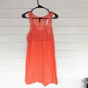 O'Neill Lace Top Cover Up Dress Coral Color Medium